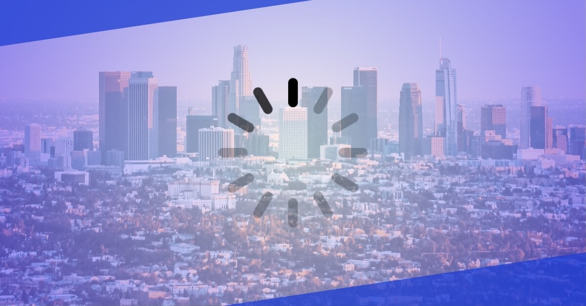 Los angeles digital divide illustration.