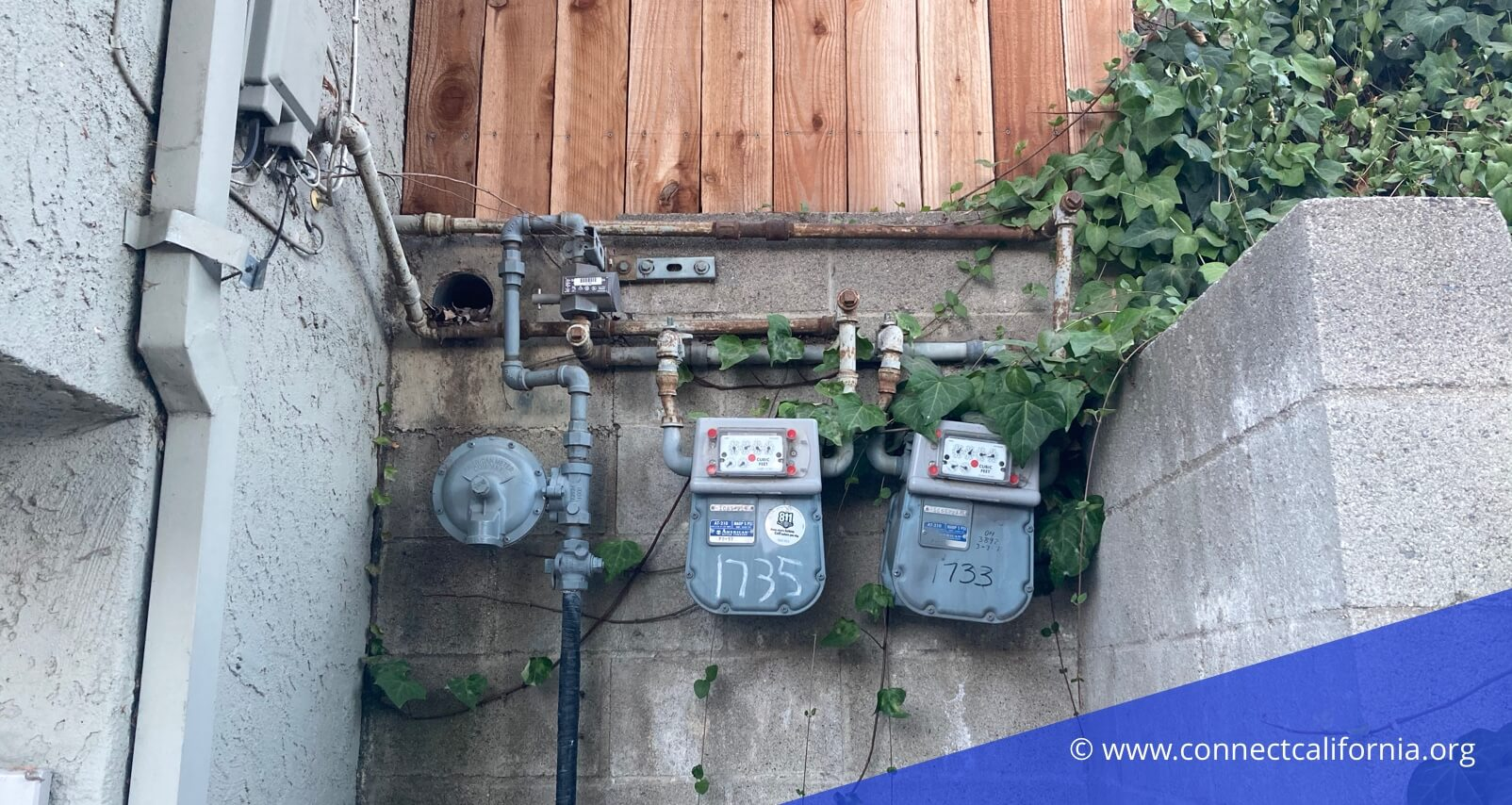 Water meters in California.